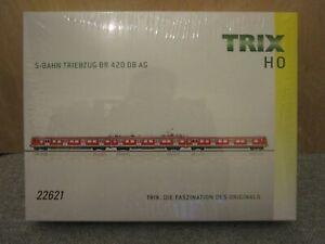 TRIX 22621 BR 420 DB S-BAHN VERKEHRSROT TRIEBWAGEN ZUG E-LOK EMU H0 DC BRAND NEU