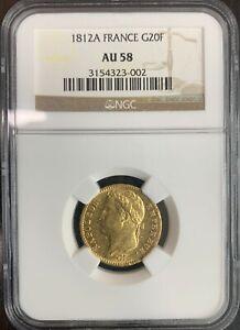 France - Napoleon Emperor - 20 Francs 1812 Paris - NGC AU58