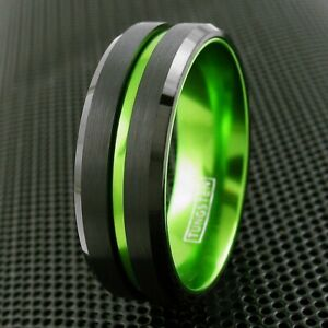 6/8mm Tungsten Thin Line Wedding Band Ring Bridal Jewelry TW - 8 Colors
