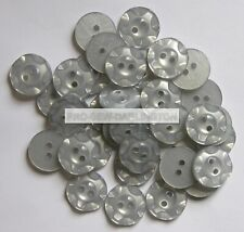 Large 28mm 44L Light Pinky Grey Cream Brush Effect 2 Hole Jacket Buttons #16