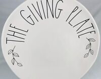 """RAE DUNN Fall """"THE GIVING PLATE"""" Thanksgiving Plate By Magenta-NEW! Thankful!"""