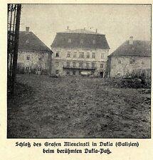 1915 * Schloß des Grafen Miencinski in Dukla Galizien *  WW1