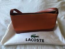 Lacoste Mini Handbag, Orange, Retro, Canvass & Leather