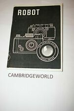 Robot Camera 105 Page New Camera Instruction Manual Guide Book