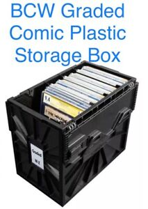 BCW Graded Certified Comic Book Storage Plastic Bin Stackable Box Heavy Duty New