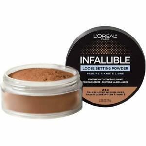 3 Pack L'Oreal Infallible LOOSE SETTING POWDER 614 Translucent Medium Deep