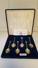 Set of 6 Exquisite Silver Plated teaspoons Queen Elizabeth II 1977 Jubilee