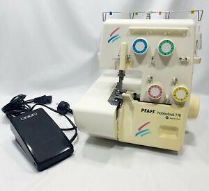 Pfaff HobbyLock 776 Overlocker Sewing Machine Hobby Lock With Foot Pedal