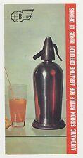 Bulgaria Bulgarian Automatic Soda Siphon Advertising Booklet Brochure 1960s