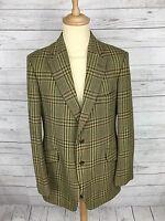 Mens Bladen Tweed Hacking Jacket/Blazer - 42R - Green - Great Condition