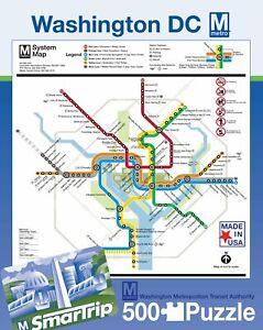 DC Metro Washington Subway Map 500 Piece Puzzle 457mm x 610mm (nyp)