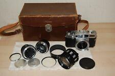Vintage Aires 35-V Rangefinder Camera w 3 Lenses & Case