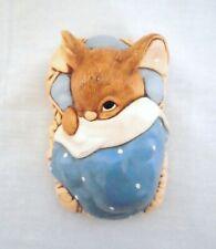 Vintage Pendelfin Rabbit Figurine - 1966 - Peeps 924.864 - Blue Blanket - Gvc