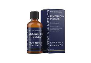 Mystic Moments Lemon Cold Pressed Essential Oil - 100ml (EO100LEMOCOLDPRES)