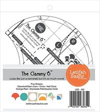 Clammy 6-Inch Quilt Template Clamshell Half Circle Orange Peel Drunkards Path