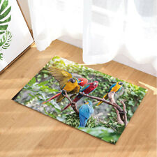 Door Mat Bathroom Rug Bedroom Carpet Bath Mats Non-Slip Tropical animal parrot