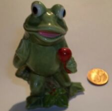 Vintage Signing Frog w/ Microphone Figurine by Schmid