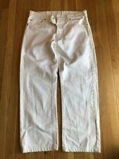 Levi White Denim 501 Jeans button up Size 34 x 32