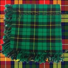 "Men's Scottish Kilt Fly Plaid Hunting Wallace Tartan Purled Fringe 48"" x 48""Wool"