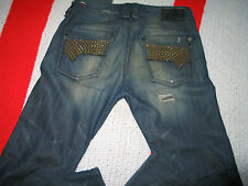 Diesel Men's Jeans Timmen Slim Straight Rare With Studs Pockets From Italy 31X32