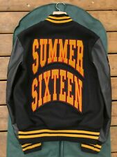 1/1 OVO x Roots Summer Sixteen Leather Varsity Jacket 2016 Exclusive Crew Only