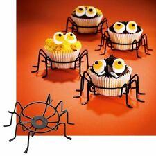 Spider Cupcake Holders ~ CASE LOT 24 Sets of 4 ~ For Spooky Halloween Fun!