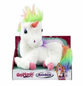Animagic Rainbow - My Glowing Unicorn - Soft Unicorn Plush Toy with Glowing Horn
