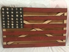 "Gary Yost older Work 'American Flag' 31""x20"".......Outsider Folk Art"