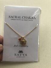 Satya Jewelry Sacrel Chakra Pendant Necklace With Carnelian Gemstone-new