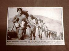WW2 Alpini del Battaglione L'Aquila nel marzo del 1945 Seconda guerra mondiale
