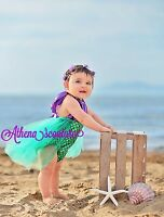 2017 Baby Girls Sequins Tutu Dress Mermaid Lace Bodysuit Romper Toddler Outfits