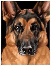 artav German Shepherd_04 Art Print of Acrylic on Canvas