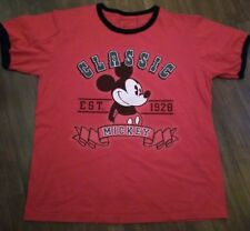 Classic Mickey Red T Shirt Men's L Disney Store Eat. 1928 100% Organic Cotton
