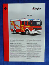 Ziegler Feuerwehr HLF 10/6 auf MB Atego / MAN TGM - Prospekt Brochure 05.2010