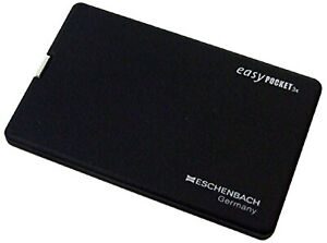 ESCHENBACH black with portable magnifying glass easy pocket magnification JAPAN.