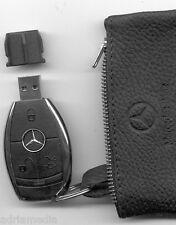 Mercedes Media Interface 2GB USB Schlüssel Leder Tasche W212 W221 W207 W216 W204