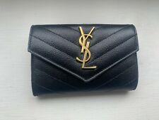 Saint Laurent Black Monogram Wallet Purse