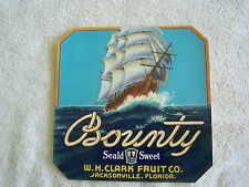 BOUNTY FRUIT CRATE LABELS    VINTAGE  NEW   OLD STOCK