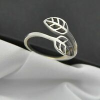 Leaf Design Band Ring in Plain 925 Sterling Silver ~ Size O ~