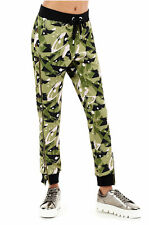True Religion Women's Snap Detail Camo Jogger Sweatpants in Camo