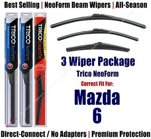 3-Pack Wipers Front & Rear NeoForm - fit 2004-2007 Mazda 6 - 16220/180/12A