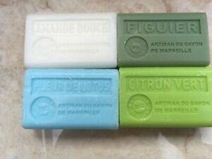 5 x French soaps 125g  with organic olive oil and shea 45 scents/ FREE UK POST