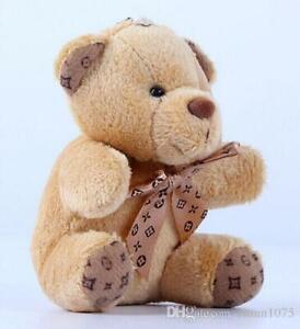 10cm stuffed teddy bear Key chain dolls cute plush teddy for gift
