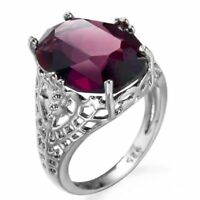 Size 6-10 Silver Wedding 925 6Ct Engagement Ring Huge Bridal Alexandrite Natural
