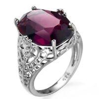 Silver Wedding 925 6Ct Engagement Ring Huge Bridal Alexandrite Natural gift sz6