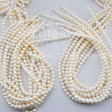 Genuine Natural 5-6mm White Real Freshwater Pearl Loose Beads 15'' AAA