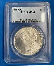 1878 CC MS64 Morgan Silver Dollar PCGS