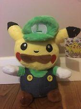 Super Mario Pokemon Plush Teddy - Pikachu Luigi Soft Toy - Size: 20cm - NEW