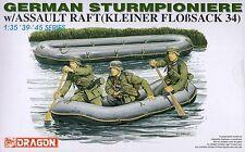 Dragon 1/35 6076 WWII German Sturmpioniere w/Assault Faft (3 Figures)