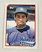 Lot of 3 - 1989 TOPPS TRADED #110T DEION SANDERS BASEBALL ROOKIE CARD YANKEES RC